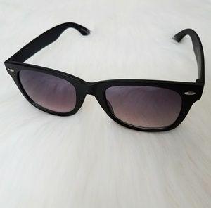 Purple Tint Sunglasses Black Frame Shades Unisex